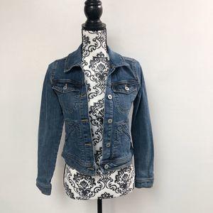 Anthropologie Womens XS Denim Jacket Jean Pilcro